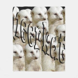 White Meerkat Army, Medium Fleece Blanket
