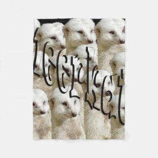 White Meerkat Army, Small Fleece Blanket