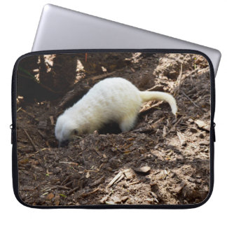 White Meerkat Digging For Tasty Bugs, Laptop Sleeve
