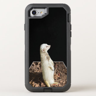 White Meerkat Popout Art, iPhone 7 Defender Case