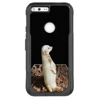 """White Meerkat Popout  Google XL 5.5"""" Pixel Case"""