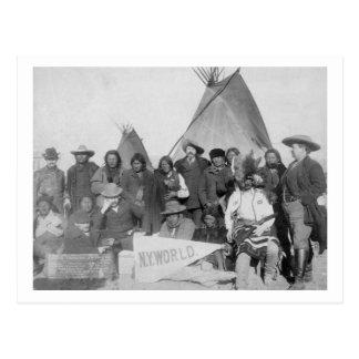 White Men (including Buffalo Bill) and Lakota Postcard