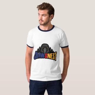 White Mens Ringer T-Shirt