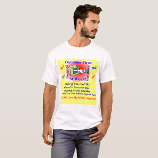 White men's T-Shirt Computer Virus Funny