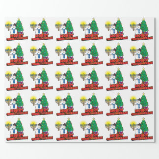 White Merry Chrismukkah Wrapping Paper