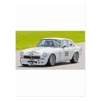 White MG race car Postcard