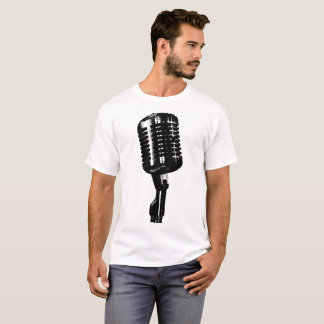 White Microphone Shirt