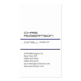 White Midnigt Blue Attractive Charm Business Card