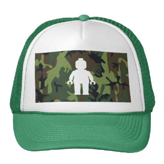 White Minifig in front of Camo Trucker Hats