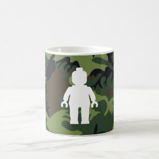 White Minifig in front of Camo Mug