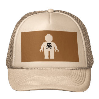 White Minifig with Black Skull Hats