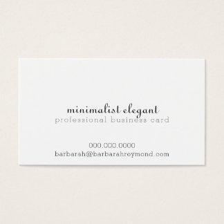 white minimalist elegant professional business card