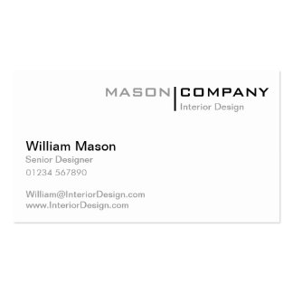 White Minimalistic Corporate Business Card