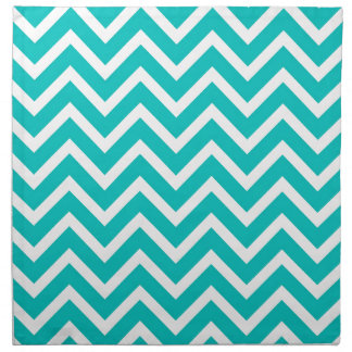 white mint white zig zag pattern design napkin