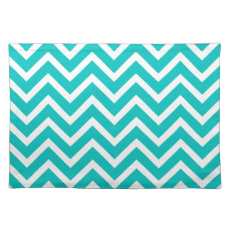 white mint white zig zag pattern design placemats