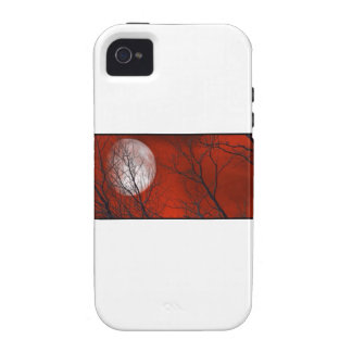 White Moon Red Sky iPhone 4/4S Covers