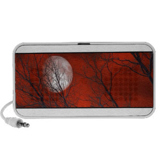 White Moon Red Sky Notebook Speakers
