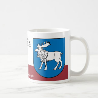 White Moose from Semigalia Latvia Coffee Mug