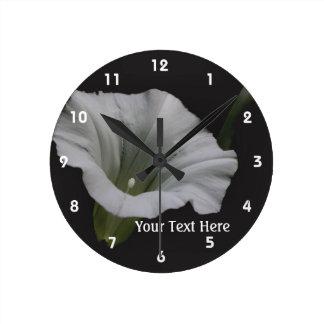 White Morning Glory Flower Nature Clocks