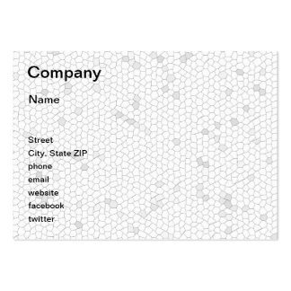 White Mosaic Pack Of Chubby Business Cards