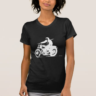 White Motorcycle T-Shirt