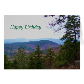 white mountain birthday card