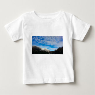 White Mountain Blue Sky Landscape Baby T-Shirt