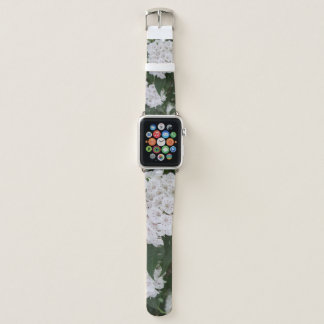 White Mountain Laurel Apple Watch Leather Band