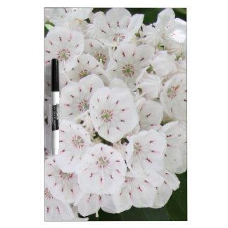 White Mountain Laurel Floral Dry Erase Board