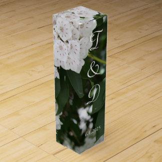 White Mountain Laurel Monogrammed Wedding Favors Wine Box