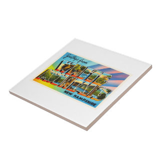 White Mountains New Hampshire NH Travel Souvenir Ceramic Tile
