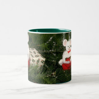 White Mouse Christmas Mug