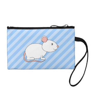 White Mouse. Coin Wallets