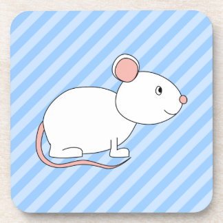 White Mouse. Beverage Coasters