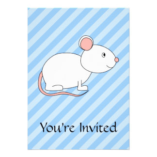 White Mouse. Personalized Invitations