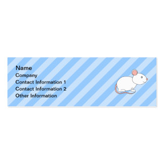 White Mouse. Pack Of Skinny Business Cards