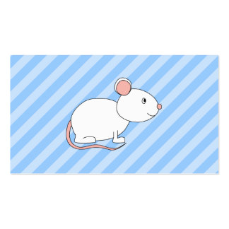 White Mouse. Pack Of Standard Business Cards