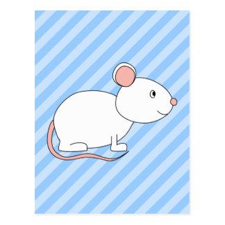 White Mouse. Postcard