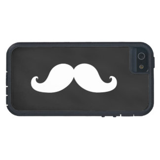 White Moustache on Black Chalkboard iPhone 5 Case