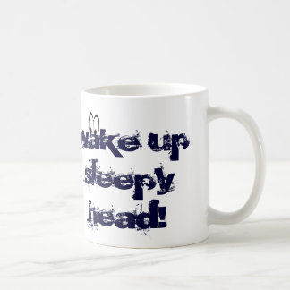 White mug for sleepy head