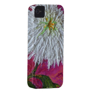 White Mum on Pink Background iPhone 4 Case