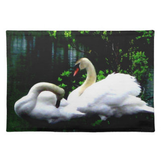 White Mute Swans Placemats