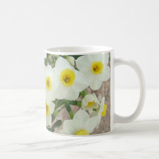 White Narcissus Flowers Mug