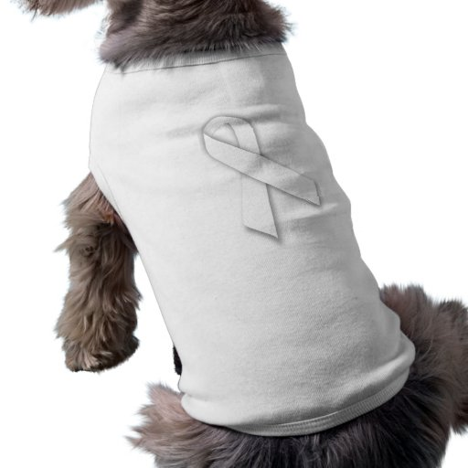 White National Day of Remembrance Ribbon Pet T Shirt