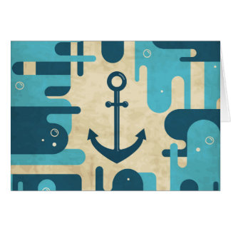 White Nautical Anchor Design with Rope Card