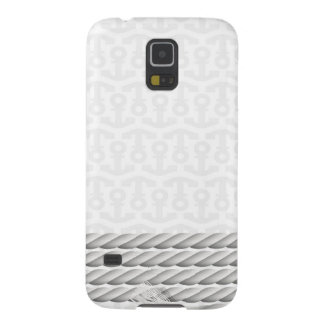 White Nautical Anchor Design with Rope Case For Galaxy S5