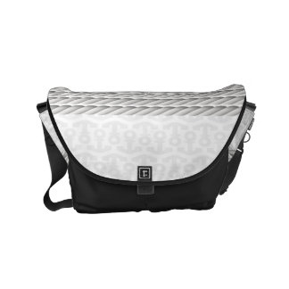 White Nautical Anchor Design with Rope Commuter Bag