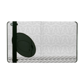 White Nautical Anchor Design with Rope iPad Case