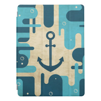 White Nautical Anchor Design with Rope iPad Pro Cover