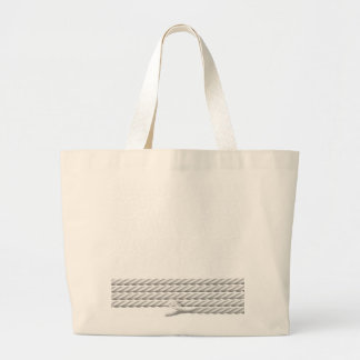 White Nautical Anchor Design with Rope Large Tote Bag